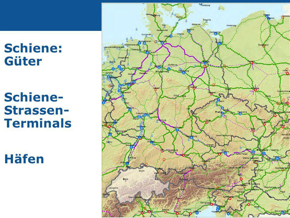 Transport Schiene: Güter Schiene- Strassen- Terminals Häfen