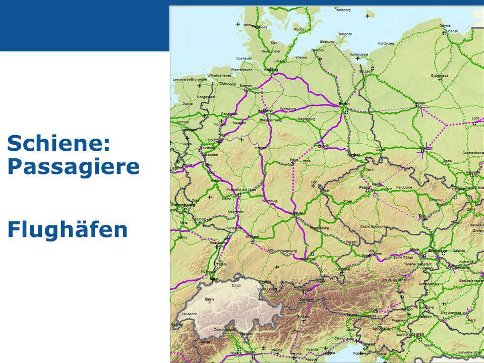 Transport Schiene: Passagiere Flughäfen