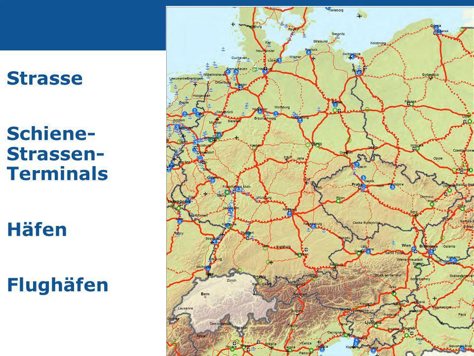 Transport Strasse Schiene- Strassen- Terminals Häfen Flughäfen