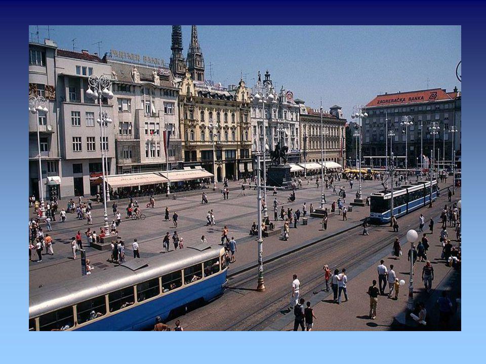 """Zagreb (deutsch auch Agram, ungarisch Zágráb, vermutlich von """"zagrabiti"""", deut. """"(Wasser) schöpfen"""")...ist die Hauptstadt und zugleich größte Stadt de"""
