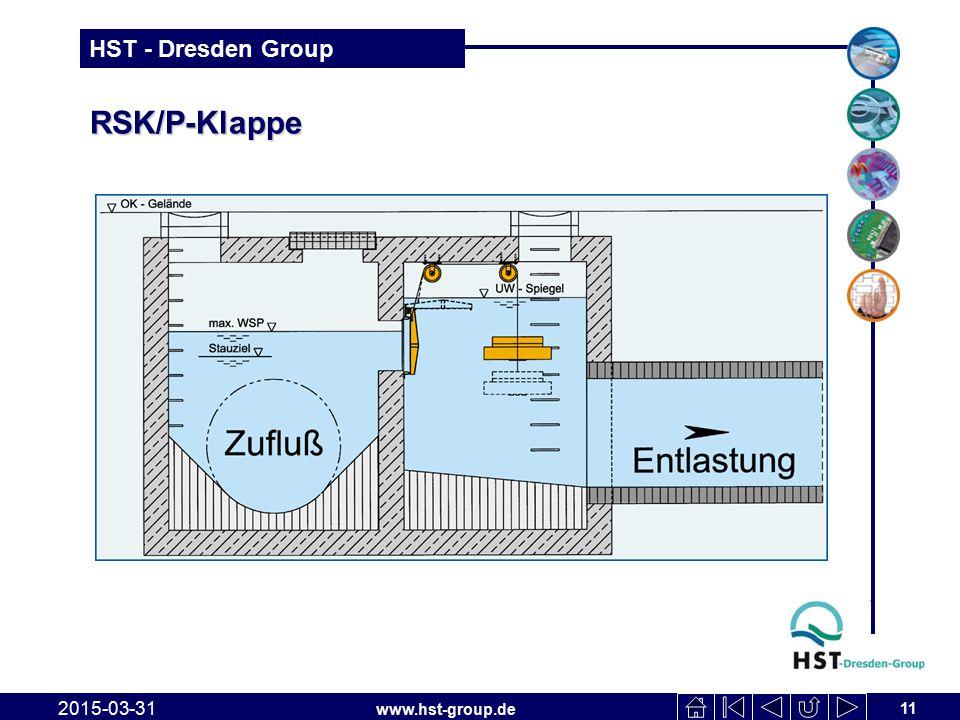 www.hst-group.de HST - Dresden Group RSK/P-Klappe 2015-03-31 11