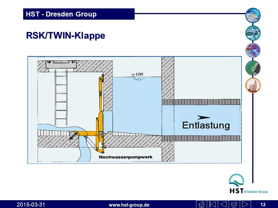 www.hst-group.de HST - Dresden Group RSK/TWIN-Klappe 2015-03-31 13