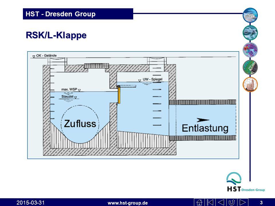 www.hst-group.de HST - Dresden Group RSK/TWIN-Klappe Klappenkonstruktio n 2015-03-31 14 Detail: Klappe Zustand geöffnet Detail: Klappe Zustand geschlossen
