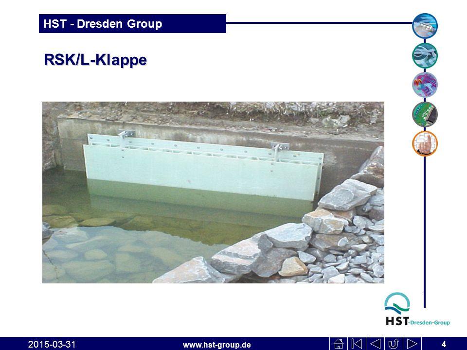 www.hst-group.de HST - Dresden Group RSK/L Klappen an Regenüberlaufbecken 2015-03-31 5