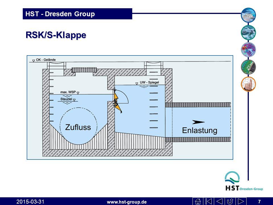 www.hst-group.de HST - Dresden Group RSK/S-Klappe geöffnet (Rückstauseite) 2015-03-31 8