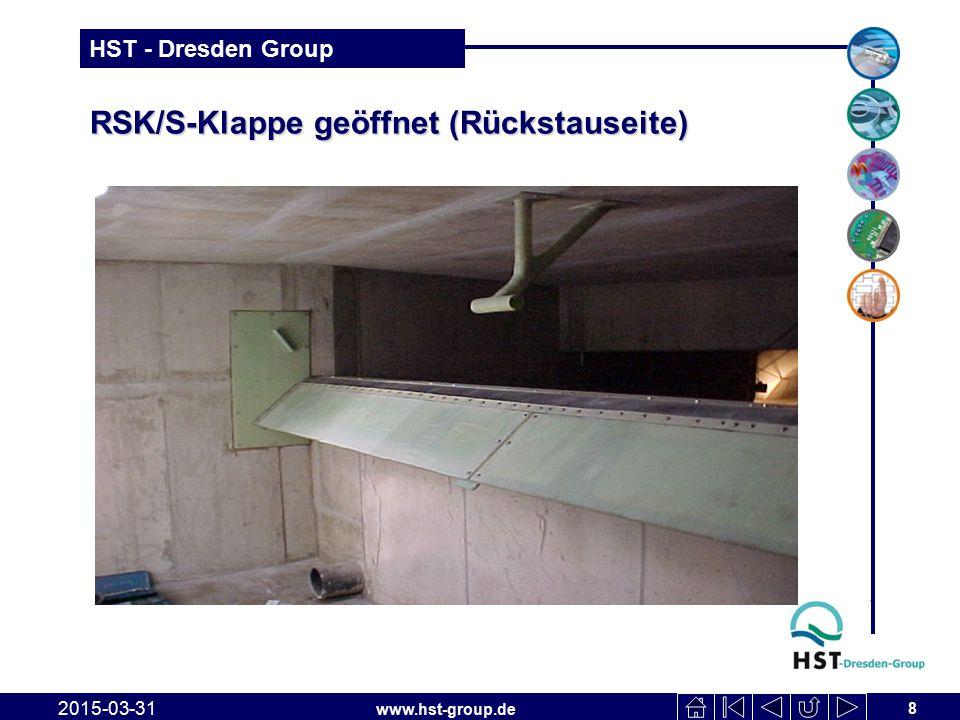 www.hst-group.de HST - Dresden Group RSK/S-Klappe 2015-03-31 9 Vorhaben: RÜB Spremberg Gartenstraße AG: Spremberger Wasser- und Abwasserverband Typ/ Bauart: Rückstauklappe RSK 2000x1000