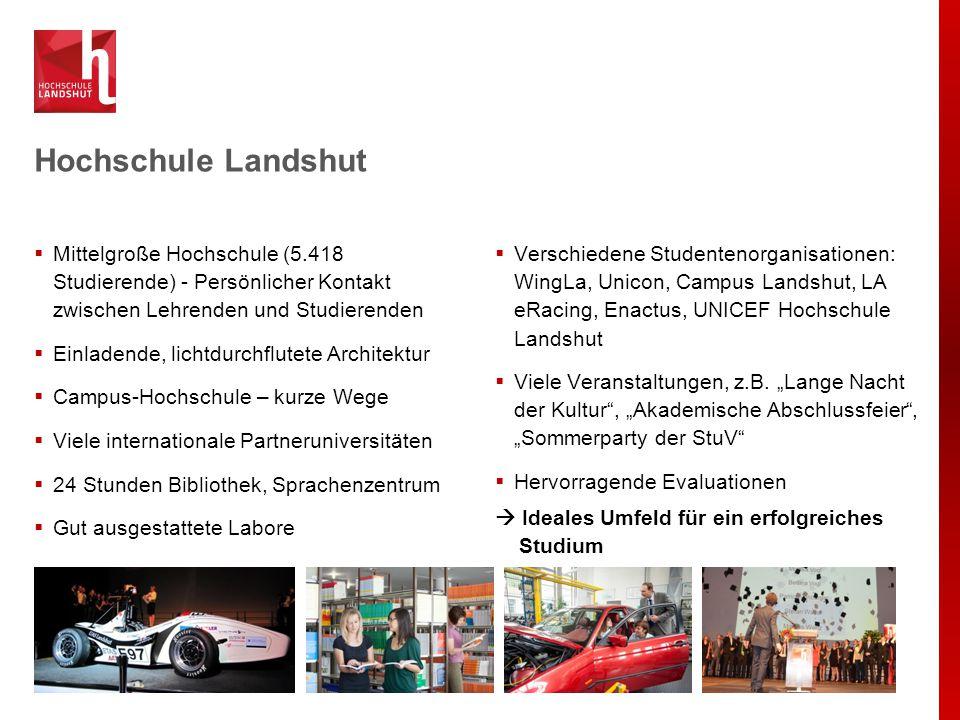  Verschiedene Studentenorganisationen: WingLa, Unicon, Campus Landshut, LA eRacing, Enactus, UNICEF Hochschule Landshut  Viele Veranstaltungen, z.B.