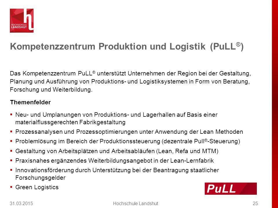 Das Kompetenzzentrum PuLL ® unterstützt Unternehmen der Region bei der Gestaltung, Planung und Ausführung von Produktions- und Logistiksystemen in Form von Beratung, Forschung und Weiterbildung.