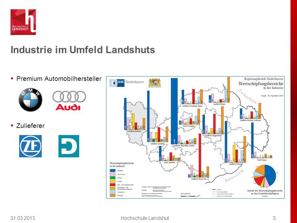 Industrie im Umfeld Landshuts  Premium Automobilhersteller  Zulieferer 31.03.20153Hochschule Landshut