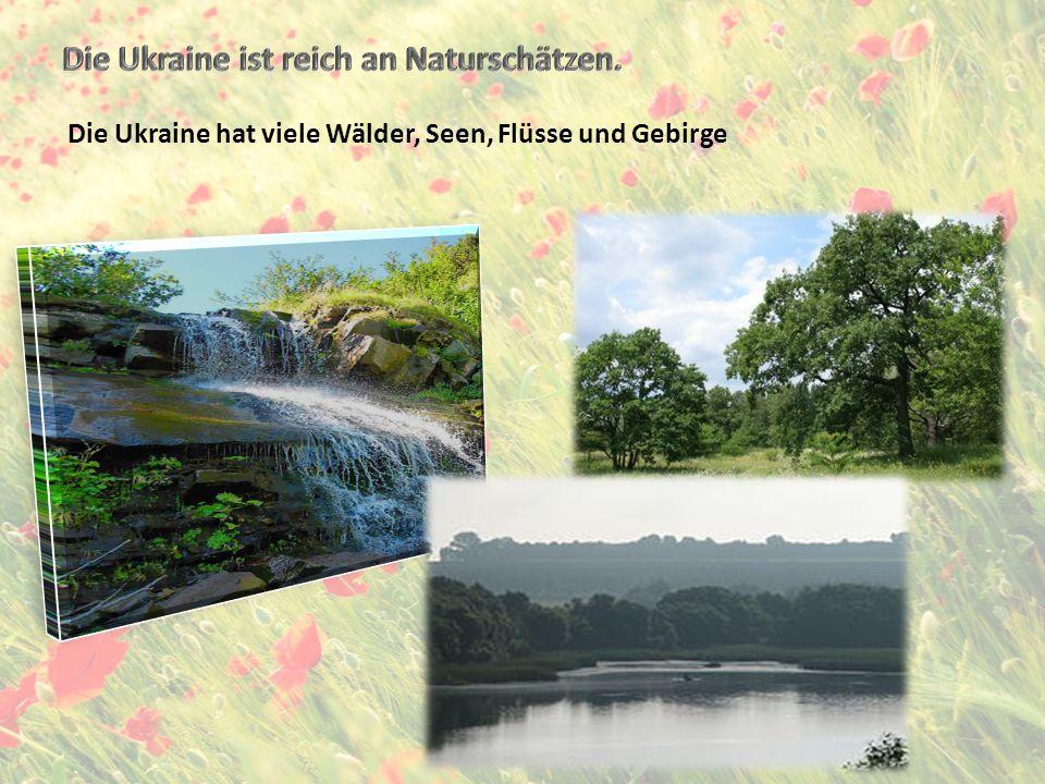 Ergänzt folgende Sätze 1.Die Ukraine liegt in 2.Die Ukraine ist reich an 3.Die Ukraine hat zwei große Gebirge.