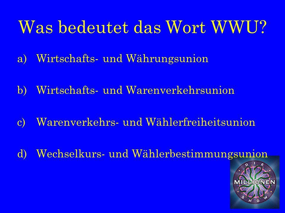 Was bedeutet das Wort WWU.