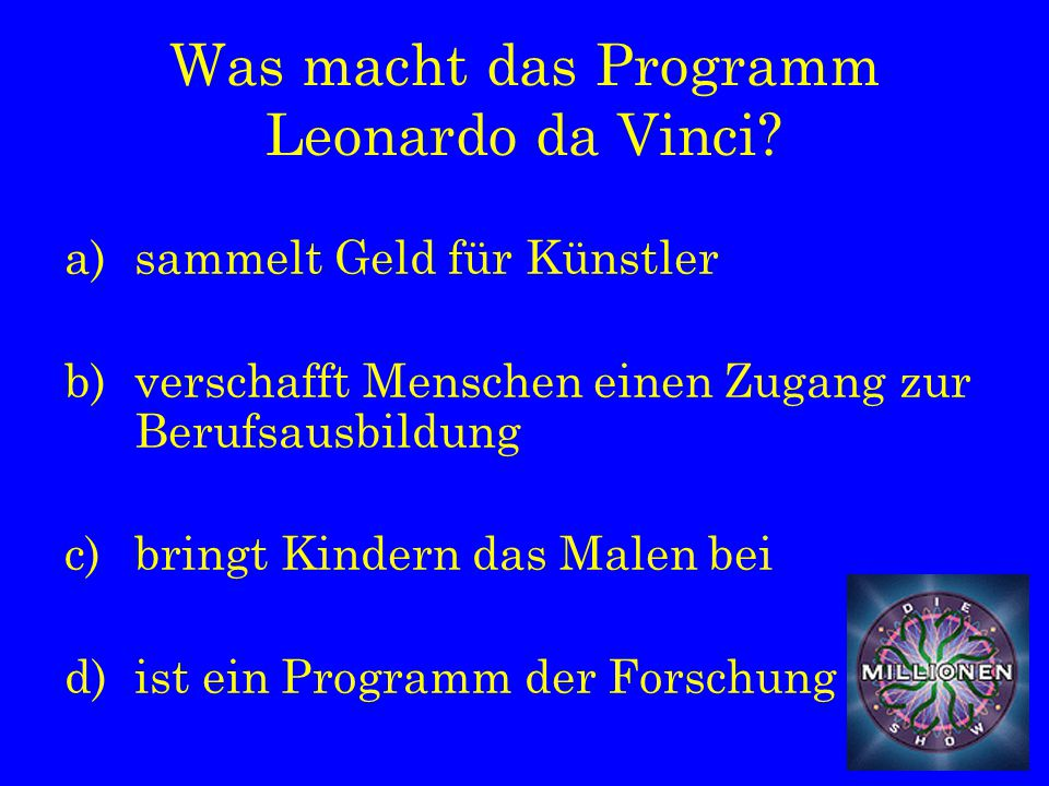 Was macht das Programm Leonardo da Vinci.