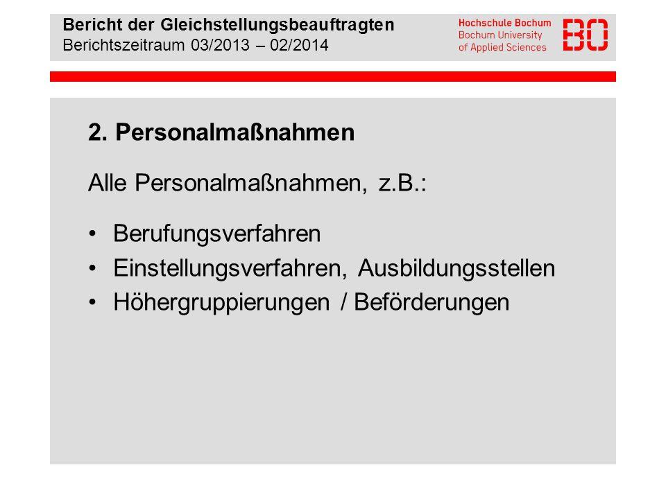 Bericht der Gleichstellungsbeauftragten Berichtszeitraum 03/2013 – 02/2014 3.