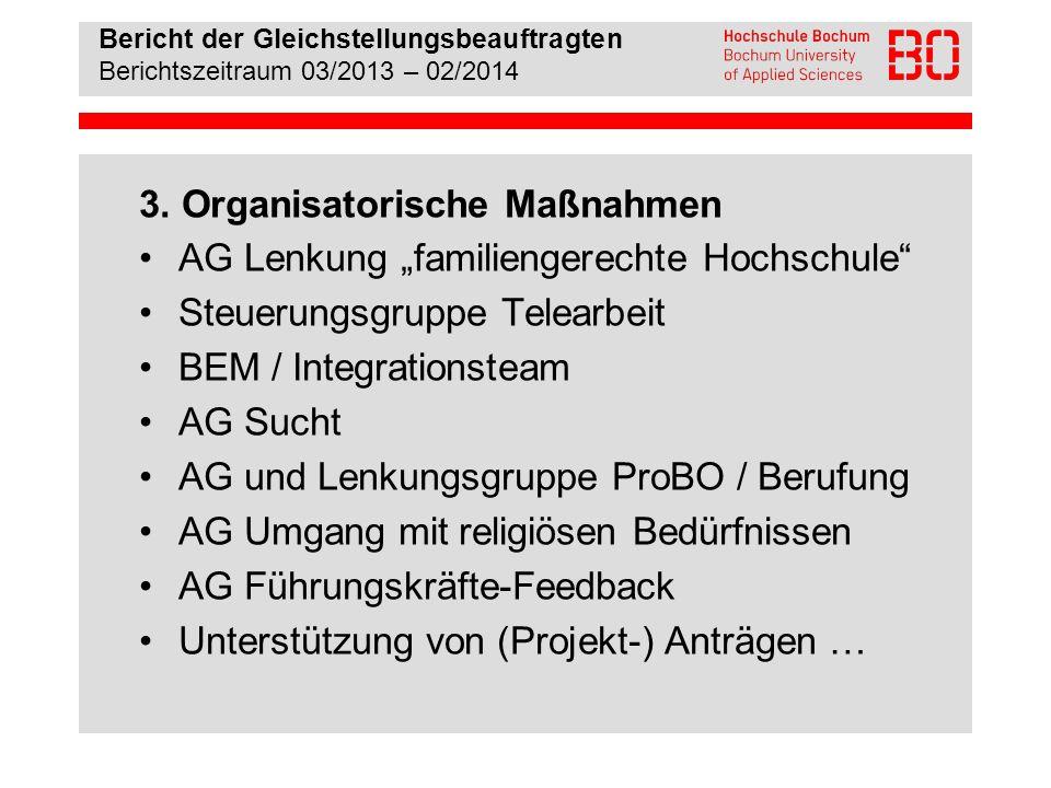 Bericht der Gleichstellungsbeauftragten Berichtszeitraum 03/2013 – 02/2014 4.