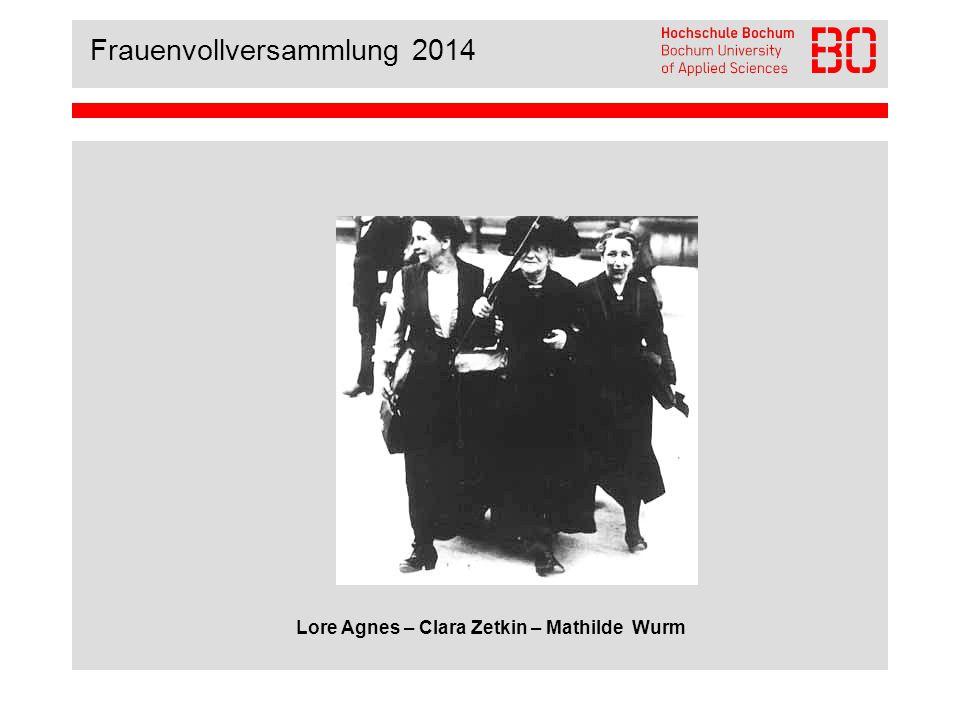 Frauenvollversammlung 2014 Programmpunkte I.