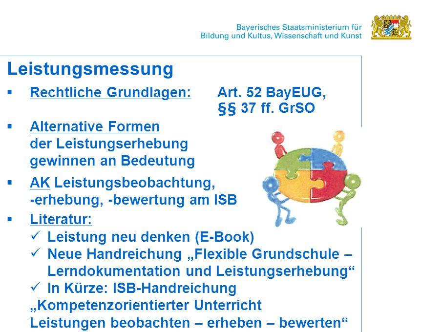 Rechtliche Grundlagen: Art.52 BayEUG, §§ 37 ff.