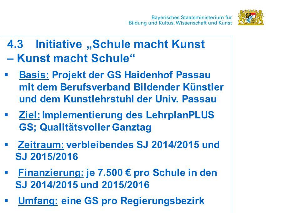  Basis: Projekt der GS Haidenhof Passau mit dem Berufsverband Bildender Künstler und dem Kunstlehrstuhl der Univ.