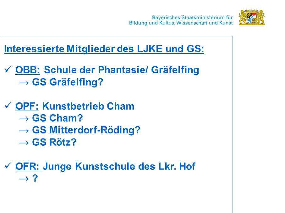 Interessierte Mitglieder des LJKE und GS: OBB: Schule der Phantasie/ Gräfelfing → GS Gräfelfing.