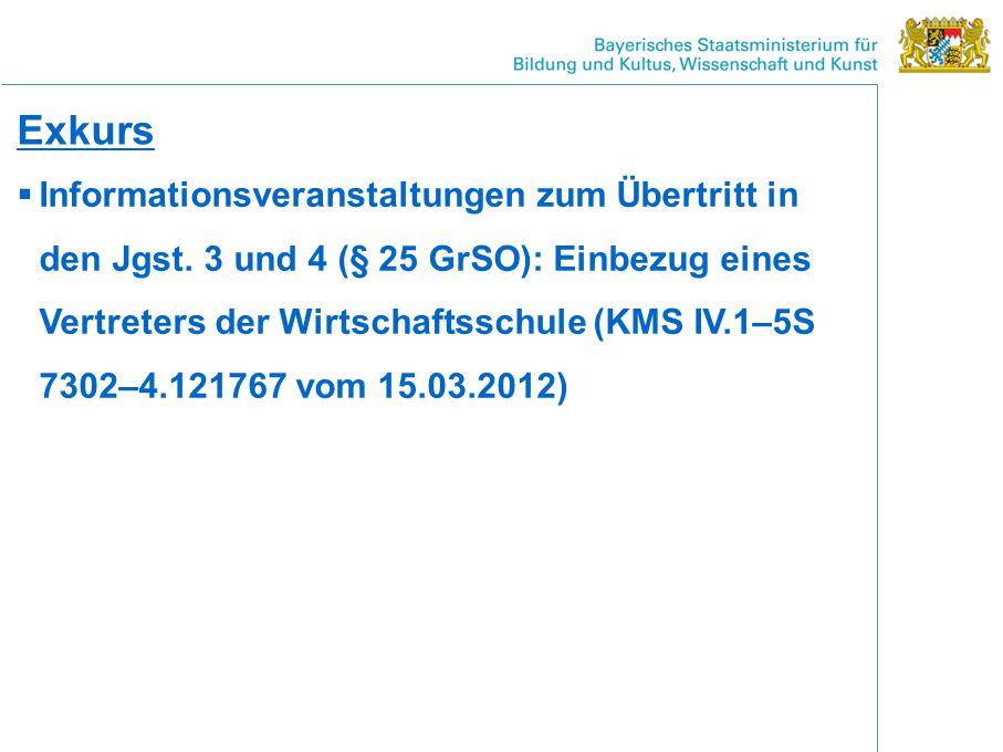 Exkurs  Informationsveranstaltungen zum Übertritt in den Jgst.