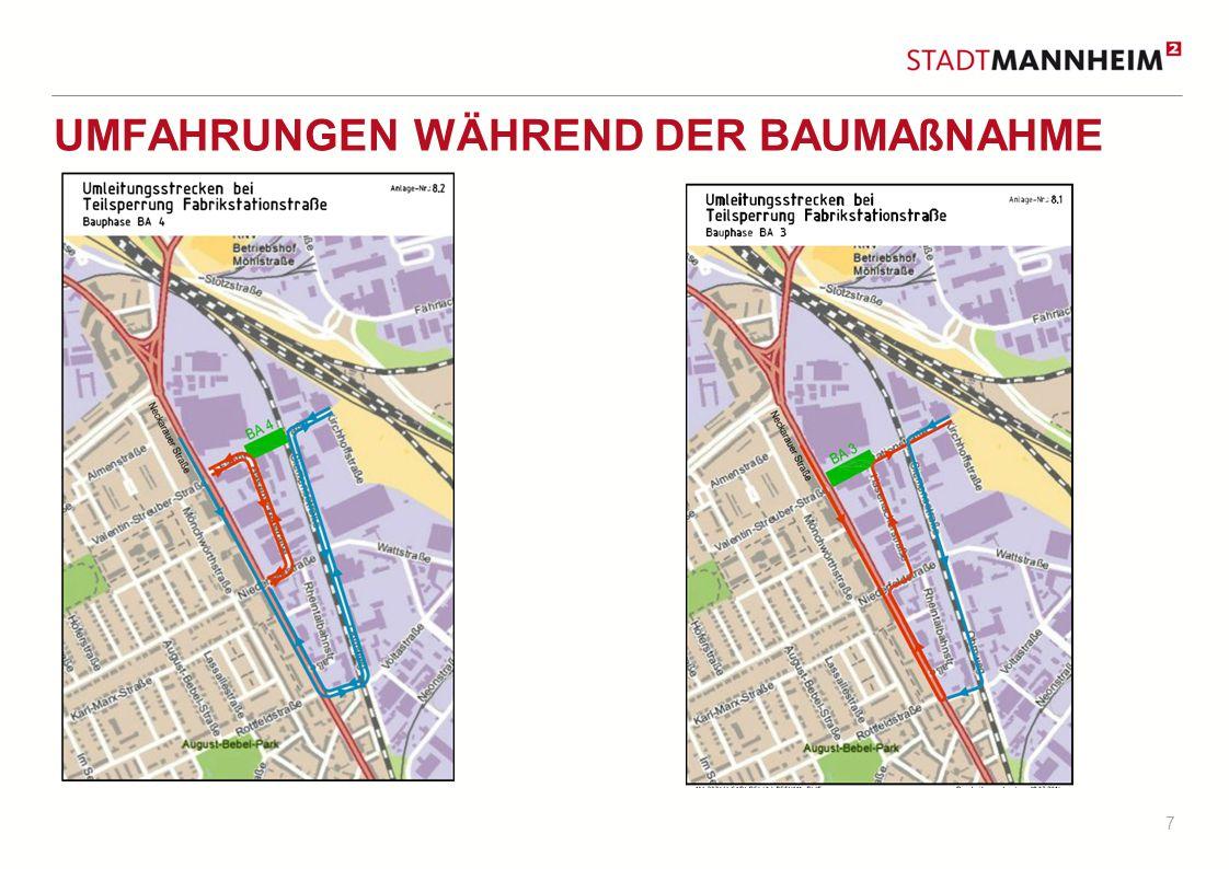 8 TERMIN BAUABSCHNITTE Straßenbaumaßnahme Baudurchführung 1.