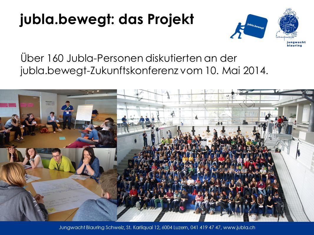 jubla.bewegt: das Projekt Über 160 Jubla-Personen diskutierten an der jubla.bewegt-Zukunftskonferenz vom 10.