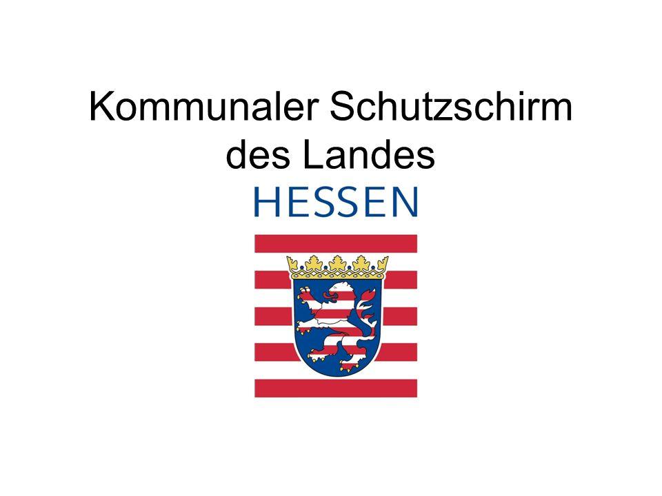 Konsolidierungsmaßnahmen Finanzwirtschaft –Einsparung von Kreditzinsen von maximal 2% auf die vom Land Hessen übernommenen Kredite in Höhe von rund 15,9 Mio.