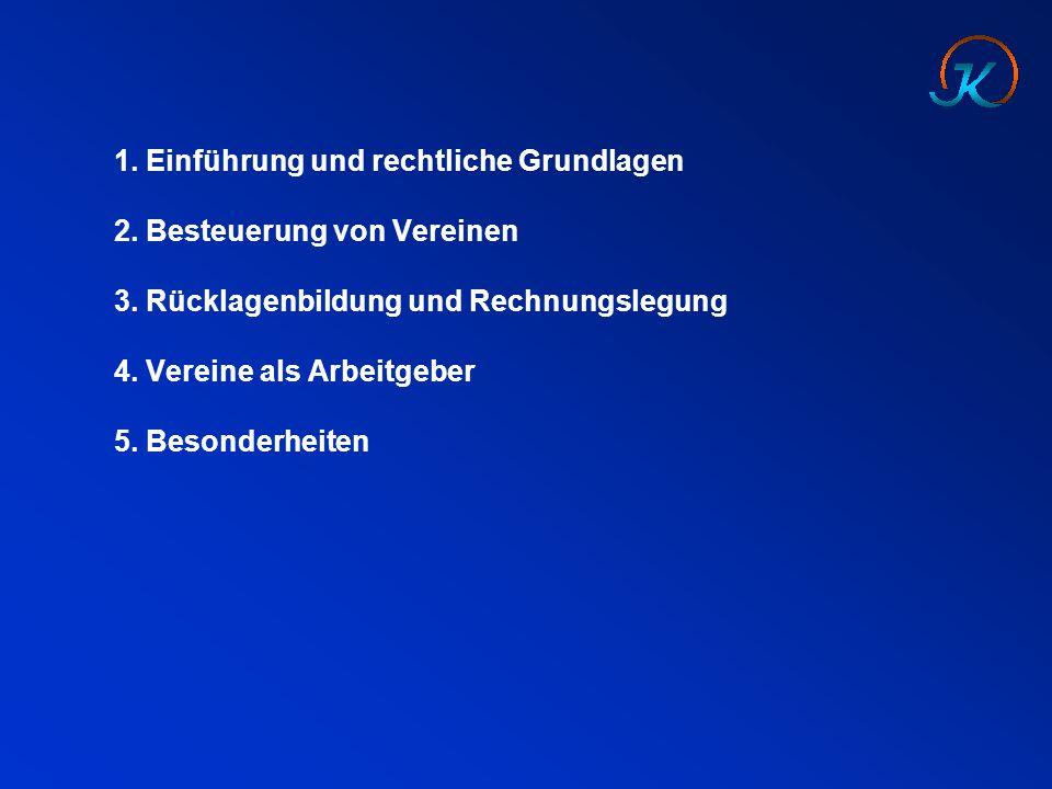 1.Einführung und rechtliche Grundlagen Vereine in Deutschland  600.000 Vereine  in 2012 sind rd.