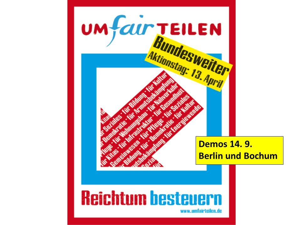 Demos 14. 9. Berlin und Bochum