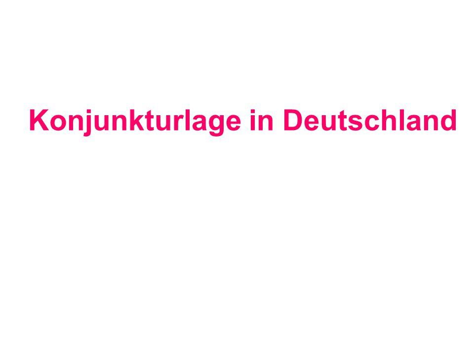 Konjunkturlage in Deutschland