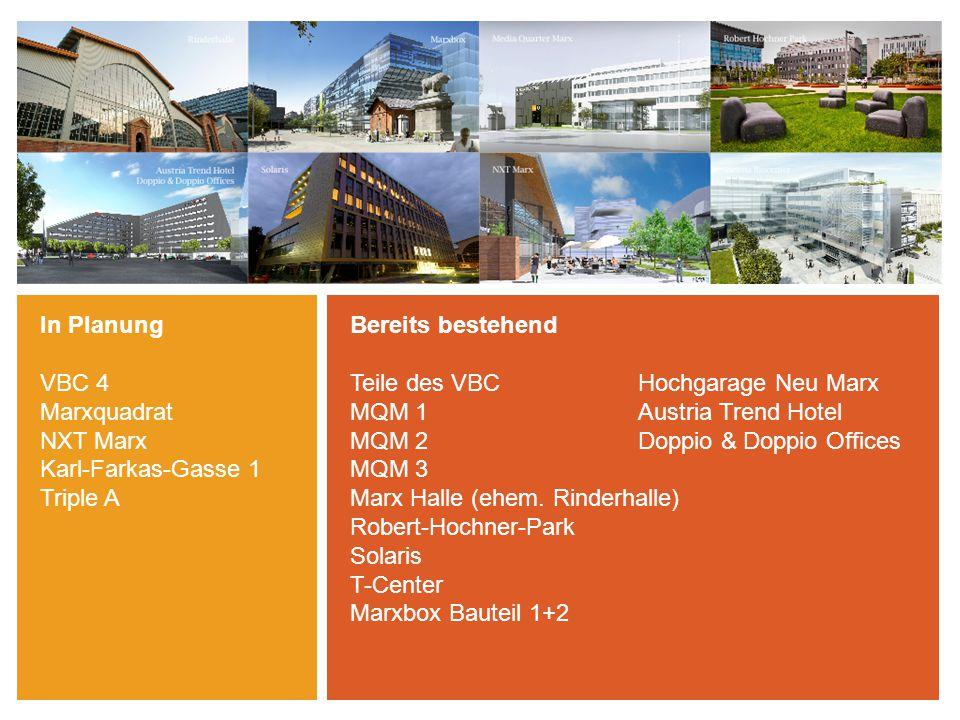 -- echo medienhaus -- Wiener Zeitung -- ProSiebenSat.1 PULS 4 GmbH -- T-Mobile / T-Systems -- fh-campus Wien + FH bfi Wien -- fjum_forum für journalismus und medien wien -- Vienna Film Commission -- Marx Media Vienna -- MINGO Büros -- Forschungsinstitute: IMP, IMBA, MFPL etc.