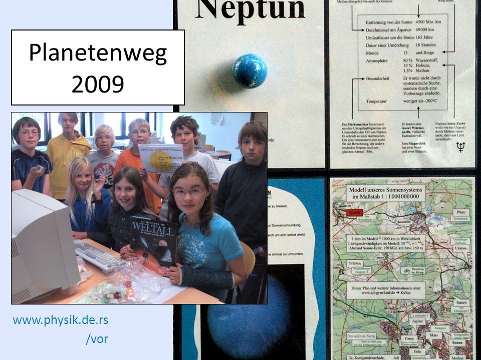 www.physik.de.rs /vor Planetenweg 2009