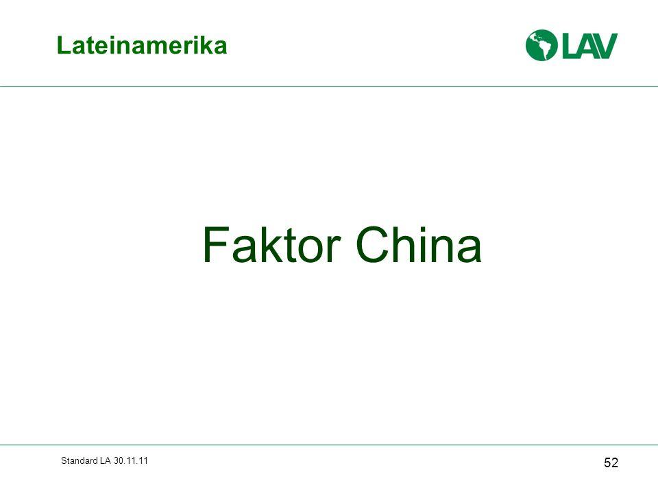 Standard LA 30.11.11 Lateinamerika 52 Faktor China