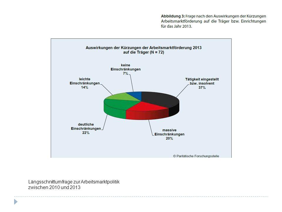 Längsschnittumfrage zur Arbeitsmarktpolitik zwischen 2010 und 2013