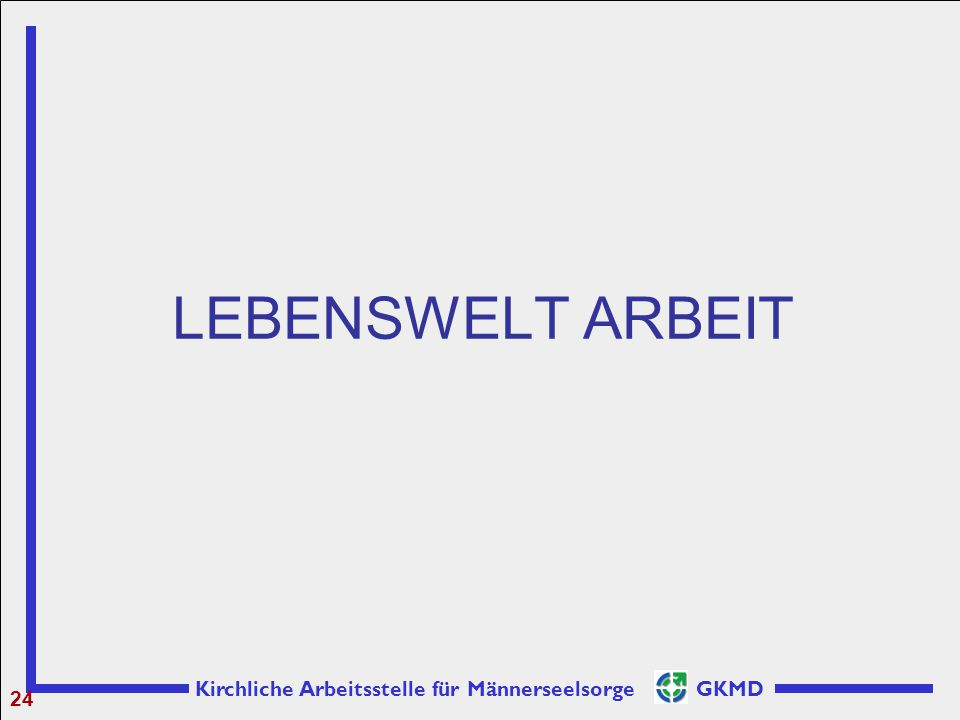Kirchliche Arbeitsstelle für Männerseelsorge GKMD LEBENSWELT ARBEIT 24