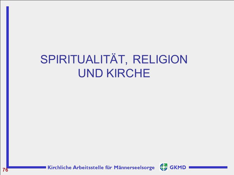 Kirchliche Arbeitsstelle für Männerseelsorge GKMD SPIRITUALITÄT, RELIGION UND KIRCHE 76