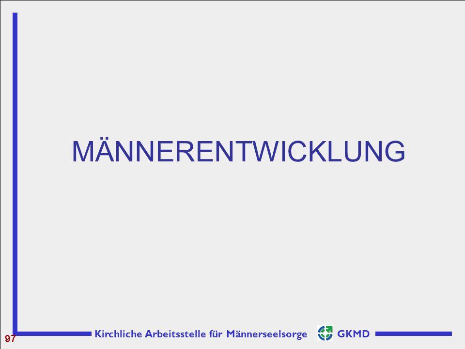 Kirchliche Arbeitsstelle für Männerseelsorge GKMD MÄNNERENTWICKLUNG 97