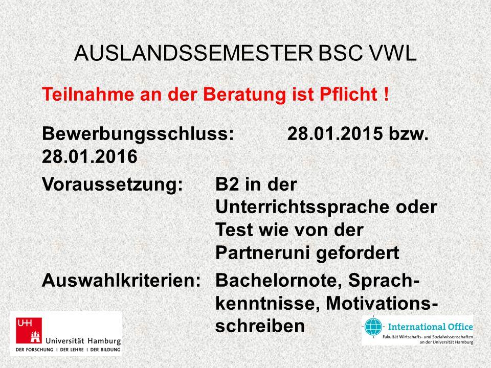 AUSLANDSSEMESTER BSC VWL 2.