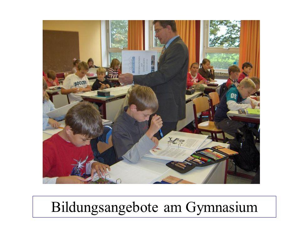 Bildungsangebote am Gymnasium