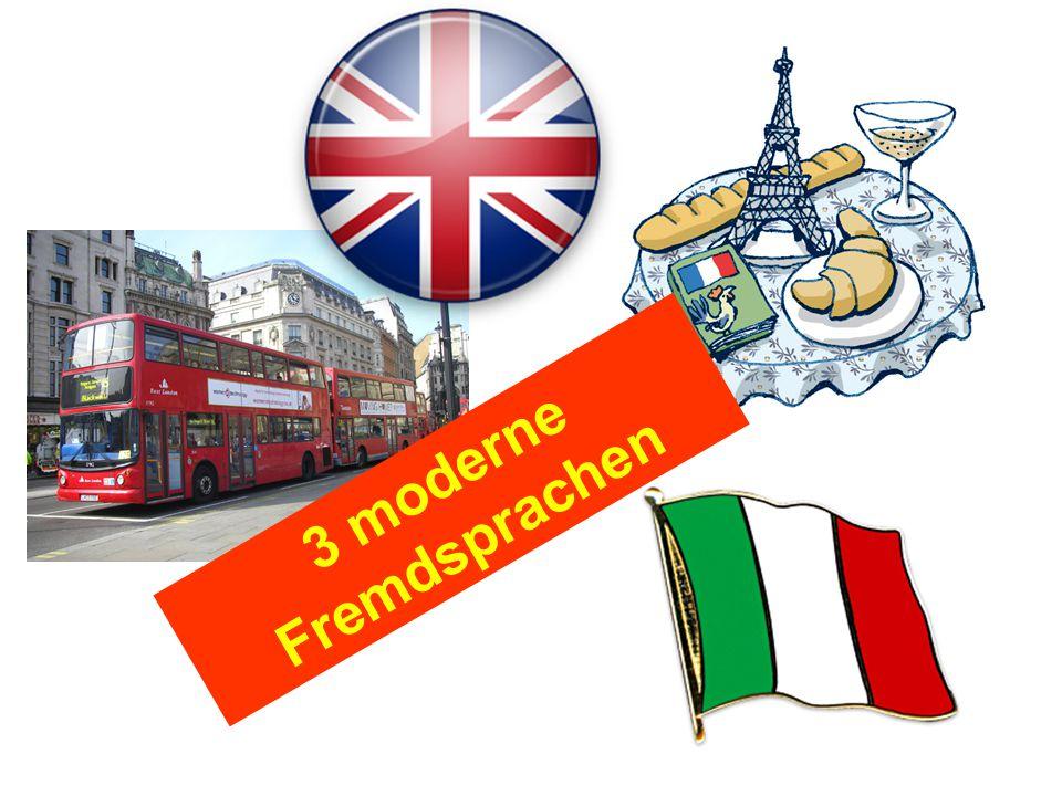 3 moderne Fremdsprachen