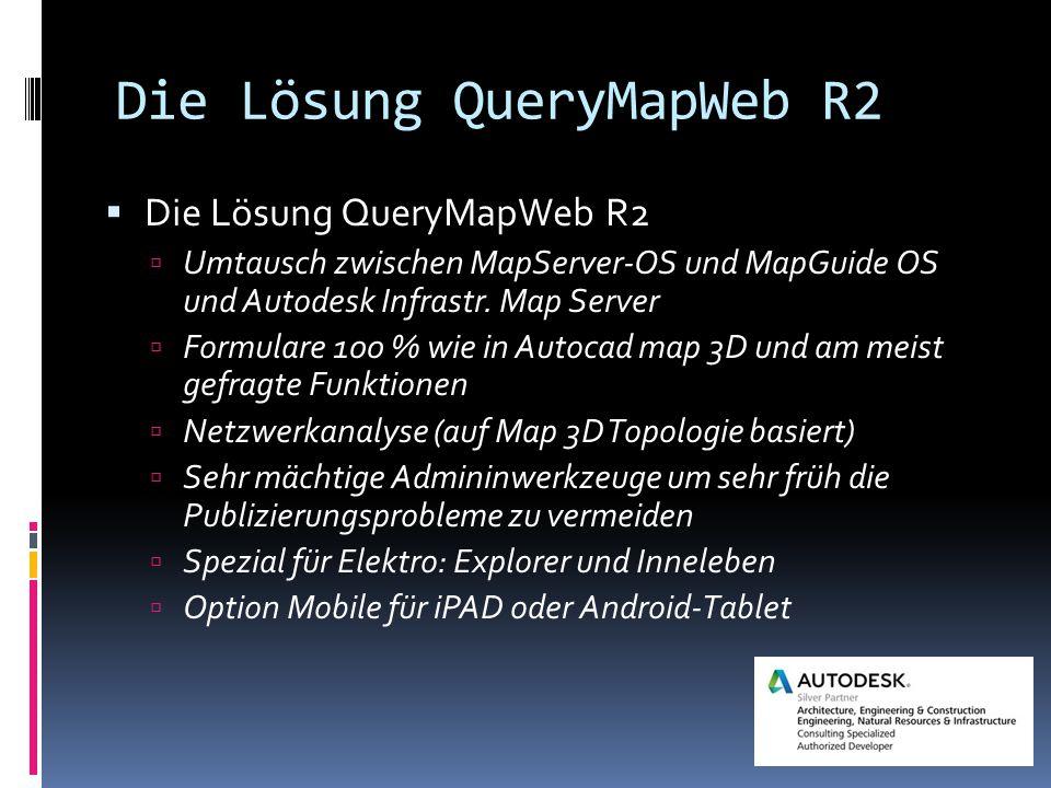 Die Lösung QueryMapWeb R2  Die Lösung QueryMapWeb R2  Umtausch zwischen MapServer-OS und MapGuide OS und Autodesk Infrastr.