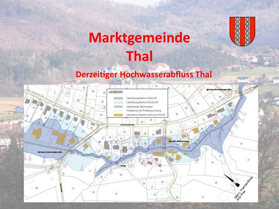 Marktgemeinde Thal Derzeitiger Hochwasserabfluss Thal
