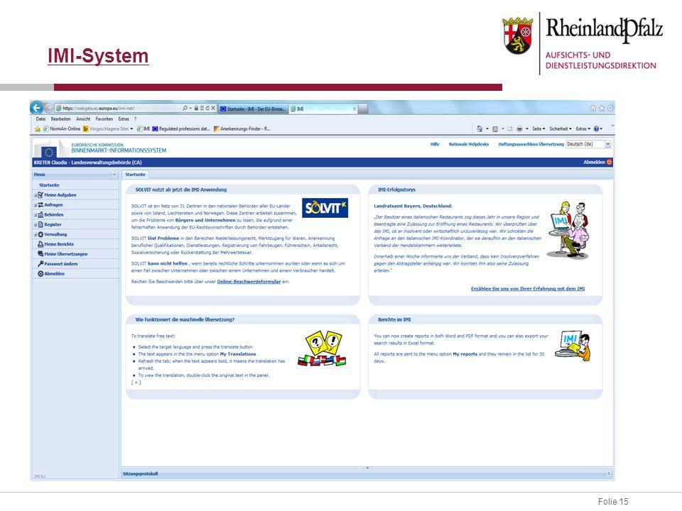 Folie 15 IMI-System