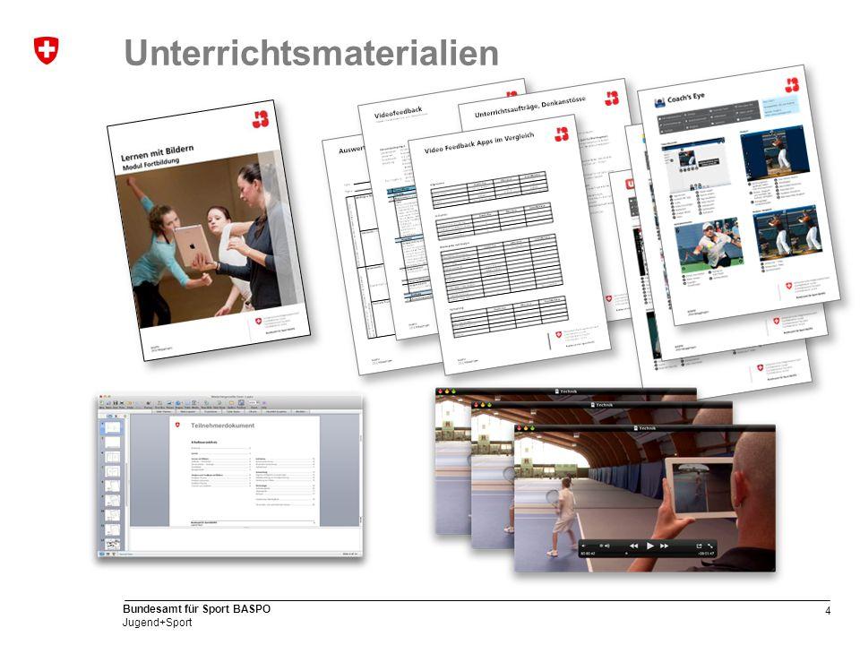 4 Bundesamt für Sport BASPO Jugend+Sport Unterrichtsmaterialien