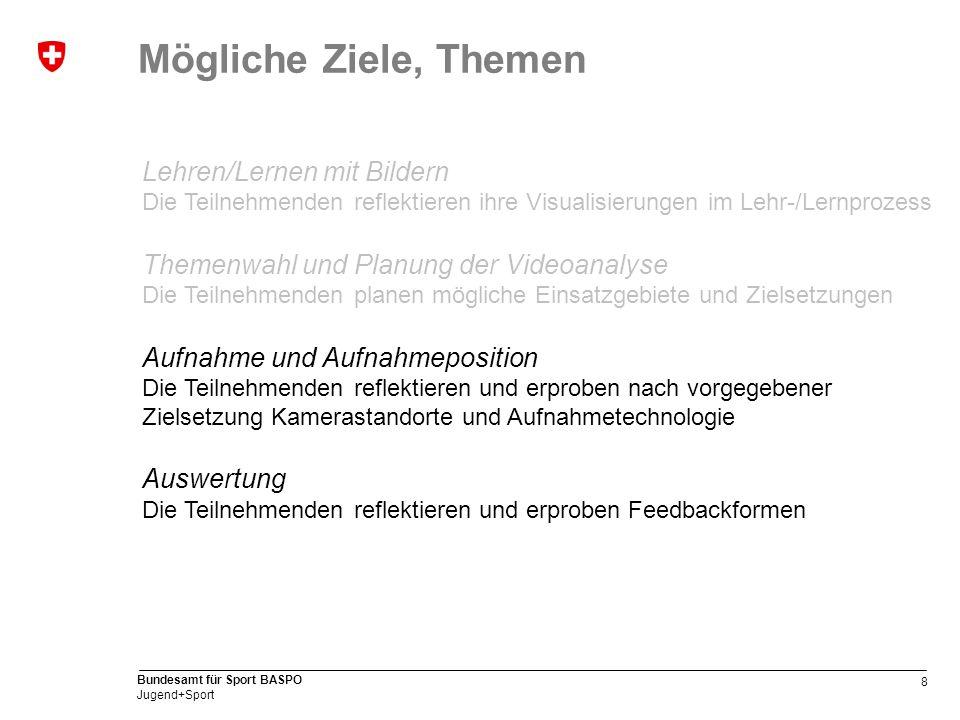 9 Bundesamt für Sport BASPO Jugend+Sport Protokollbeispiel (PDF/WORD) www.jugendundsport.ch > J+S-Experten > Downloads > J+S Modul Fortbildung www.jugendundsport.ch > J+S-Experten > Downloads > J+S Modul Fortbildung