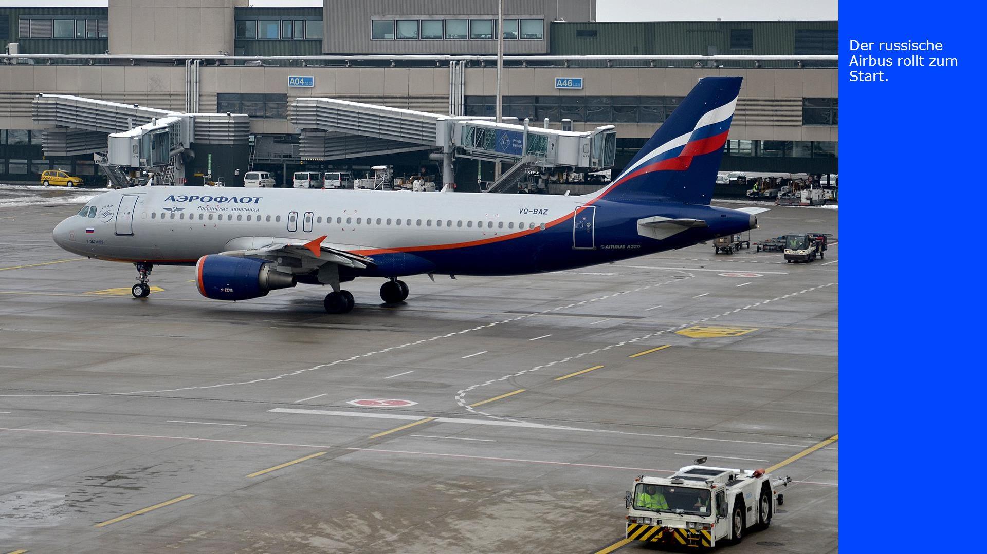 Der russische Airbus rollt zum Start, die SWISS- Maschine startete auf der Piste 28 und die Boeing aus der Türkei rollt zum Gate.