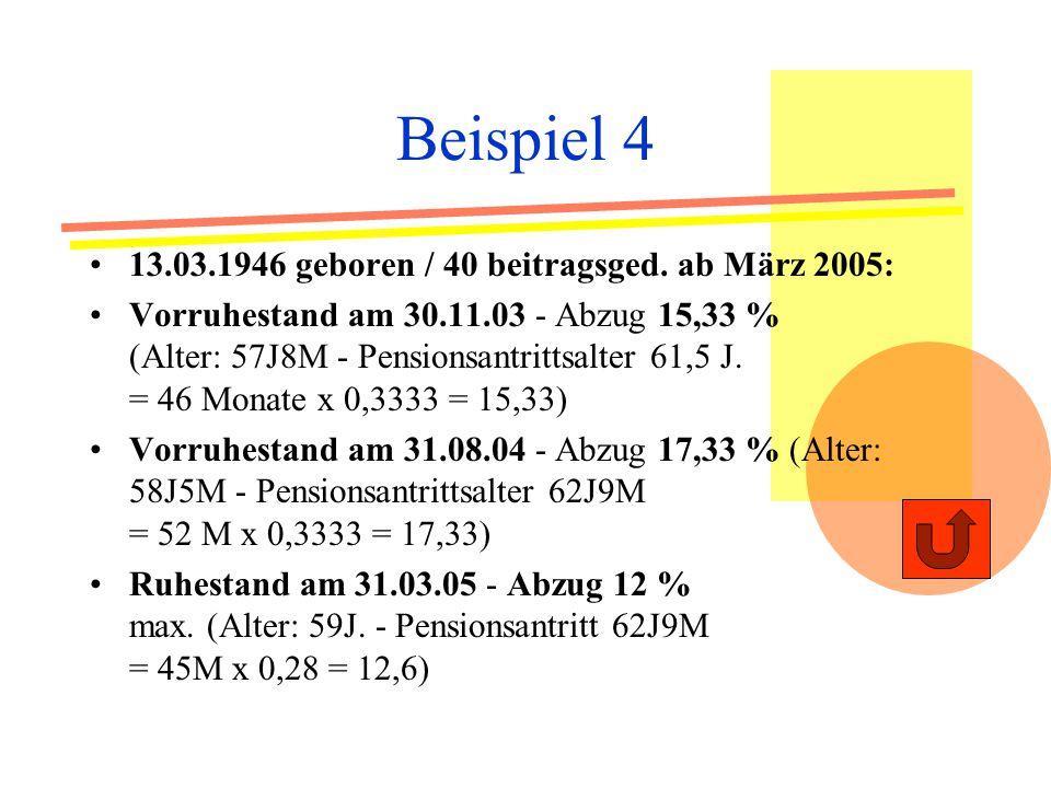 Beispiel 4 13.03.1946 geboren / 40 beitragsged.