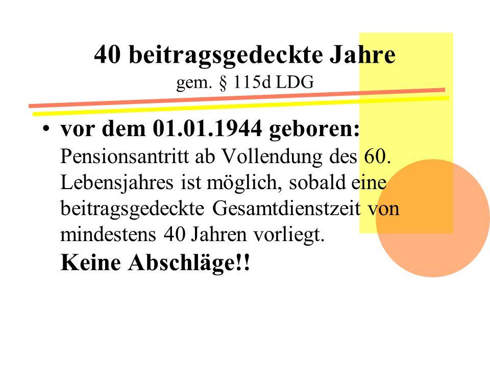 Kindererziehungszeiten Pens.Ges. § 4 Abs. 1 Zi.
