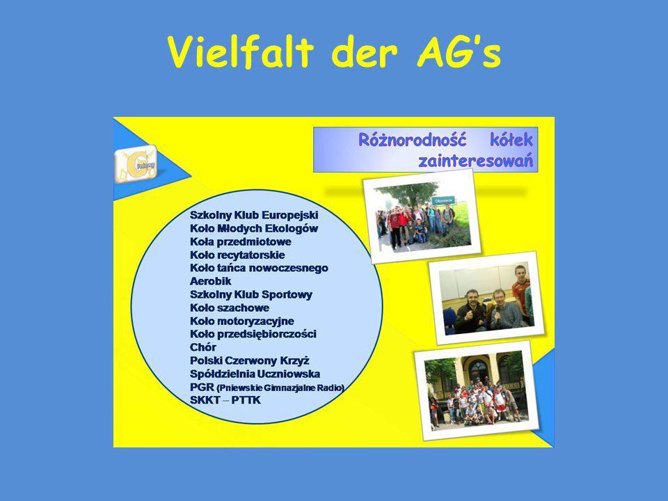 Vielfalt der AG's