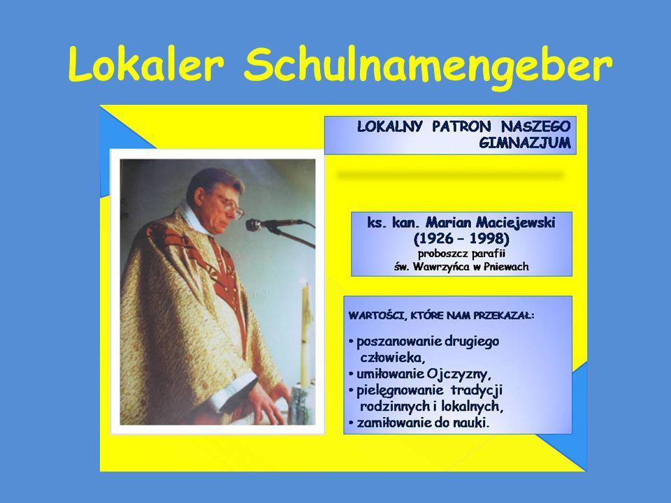 Kanoniker Marian Maciejewski Er lebte in Pniewy, unter uns.