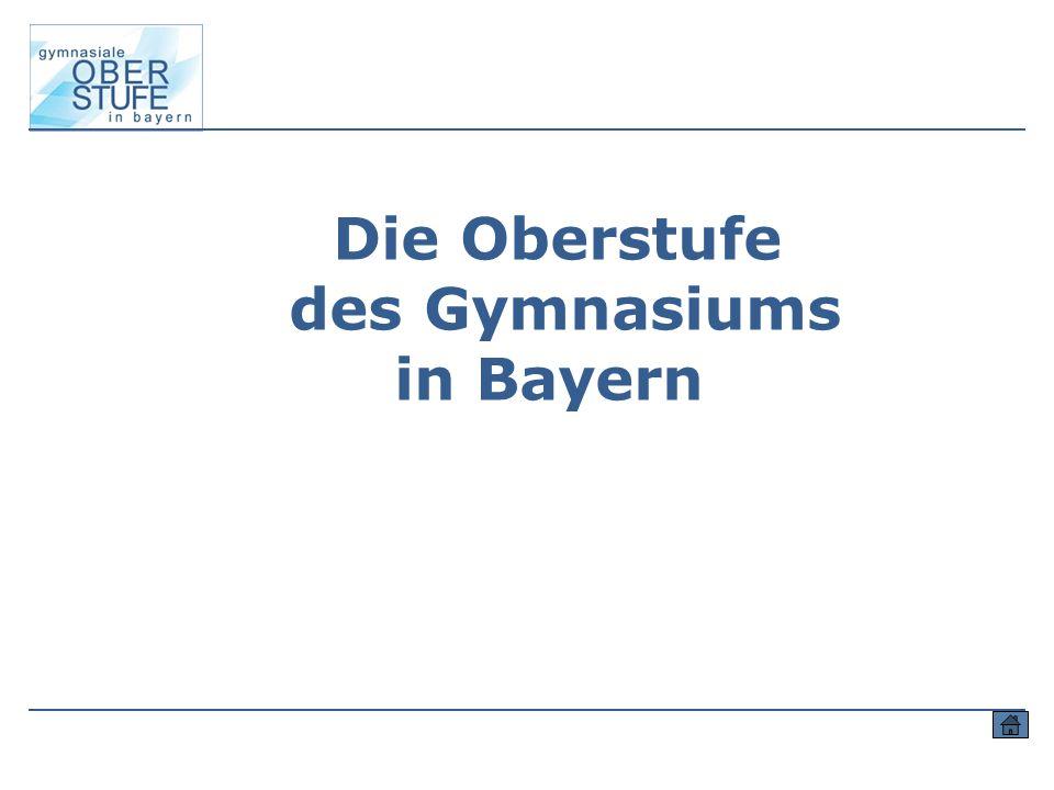 Die Oberstufe des Gymnasiums in Bayern